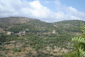 Les montagnes de la région du Chouf, au sud de Beyrouth.