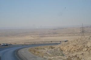 Le désert le long de la route du Roi.