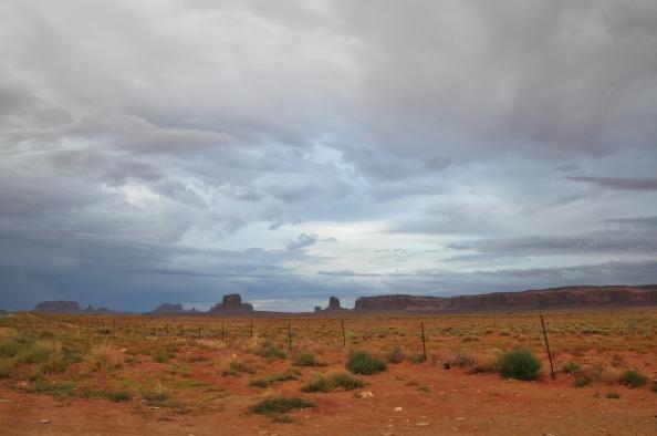 Monument Valley, ciel d'après la pluie.