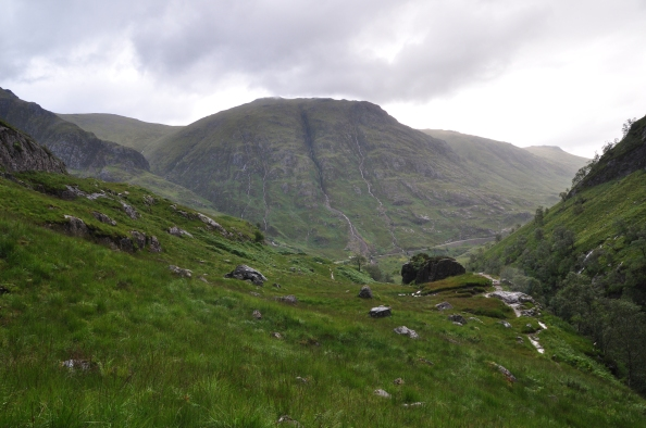"Glencoe, vue depuis la ""Vallée perdue""."