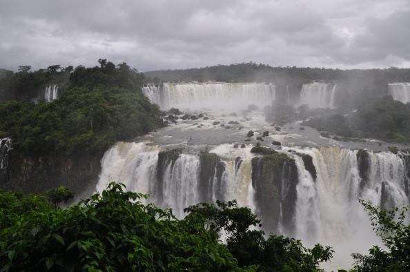Les chutes d´Iguazu, vue du Brésil.