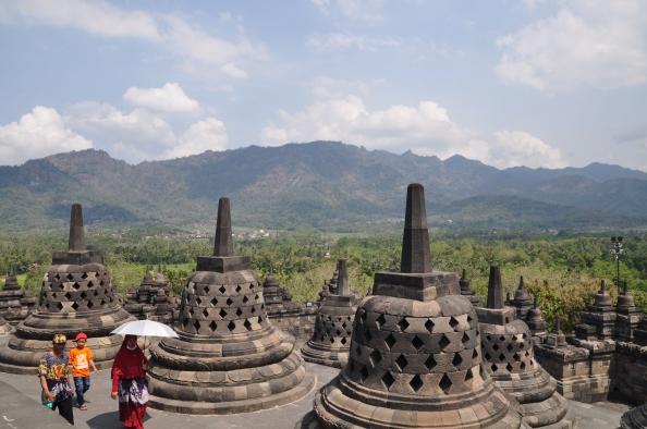 Du haut du site de Borobudur. ©Coline Herbomel-Ringa